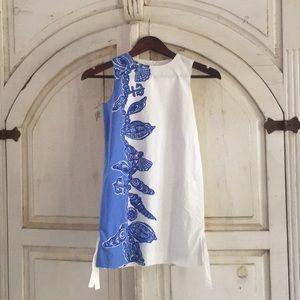 Lilly Pulitzer Girls Sz8 Blue & White Shift Dress
